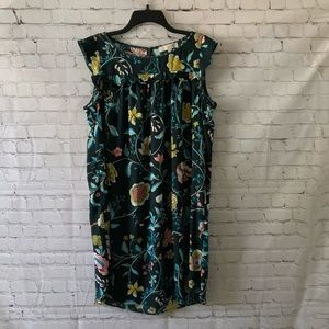 Loft Turquoise Floral Dress